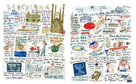 Jessie Hartland - Barcelona illustration for Travel & Leisure Family Magazine