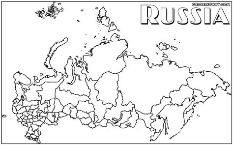 Russian Map For Coloring Coloring Pages Map Color