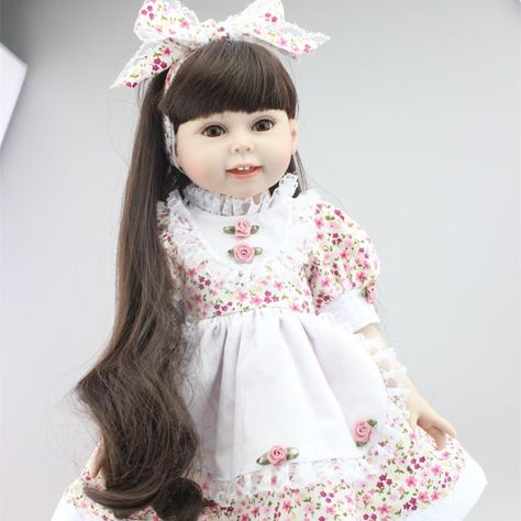 New 18 Inches 45 cm American Baby Girl Dolls Fashion Silicone Realistic Reborn Baby Dolls Cheap Reborn Babies For Sale Kids Gift