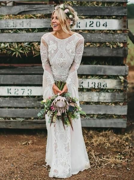 Casual Lace Wedding Dress With Sleeves Off 71 Buy