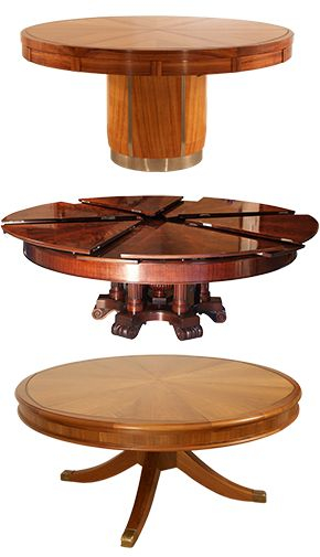 This expanding round table is so cool! Only $50,000-$70,000. Check out the  videos at fletchertavles.com! | Dining room | Pinterest | Expanding round  table, ...