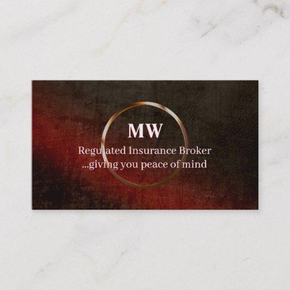 Regulated Insurance Leather Effect Ring Logo Business Card