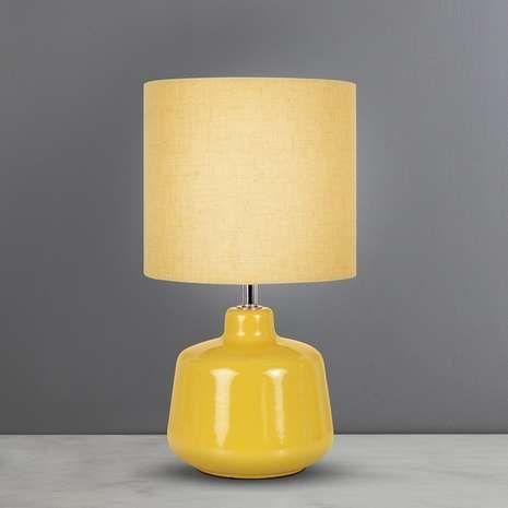 Oslo Small Ochre Ceramic Table Lamp Dunelm Ceramic Table Lamps Lamp Table Lamp