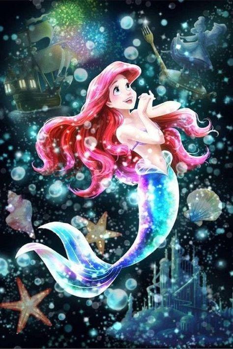 5D Cartoon Princess Character Diamond Painting Mermaid Full Drill Cross Stitch DIY Home Decoration