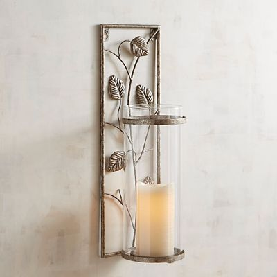 Add A Nature Inspired Accent To Walls In Need Of Lighting With Our Exclusive Silvery Wall Sconce Wall Candle Holders Leaves Candle Sconces