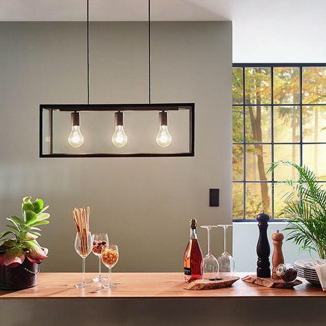 Autres Vues Lampe Design Verre Noir Lustre Salle A Manger