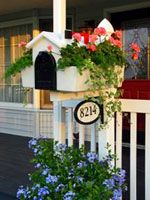 Creative Mailbox Planters - Create Your Own Custom Mailbox by slipping over a plain mailbox. Can be painted to customize.