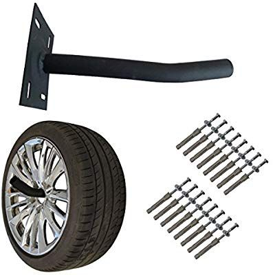 Wheel Hangers Set Wall Mount Tire Rack Alternative Space Saving Wheel Storage For Garage Shed 4 Pack Amazon Co Uk Kitchen Home Skur