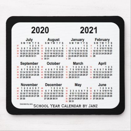2020 2021 Black And White 52 Week Calendar By Janz Mouse Pad
