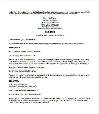 Social Work Resumes Project Management Resume Examples