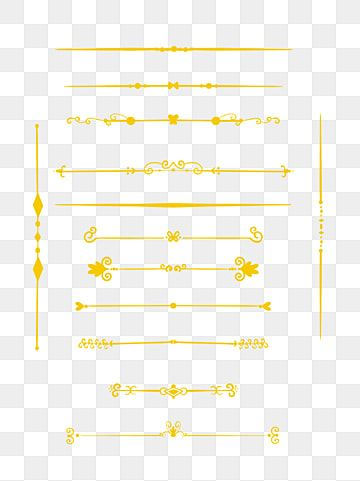 Golden Line Dividing Line Golden Line Dividing Line Png Transparent Clipart Image And Psd File For Free Download Decorative Lines Golden Texture Flower Frame