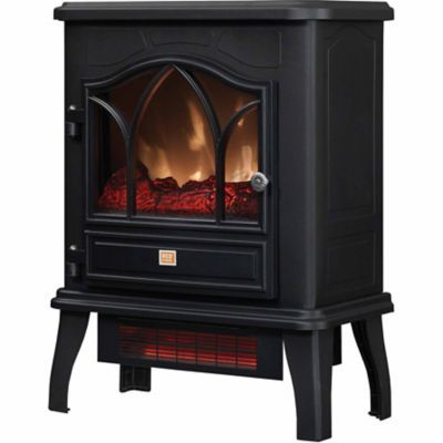 Redstone Infrared Quartz Electric Fireplace Stove Black Stove