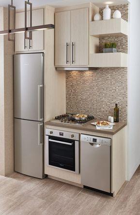 Cocinas De Apartaestudio Small Apartment Kitchen Small Modern Kitchens Tiny House Kitchen