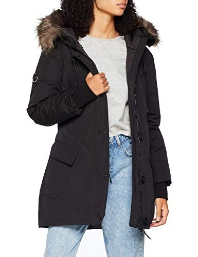 a7e6a3427 Superdry Womens Rookie Down Parka (Black 12) The Rookie Down Parka ...