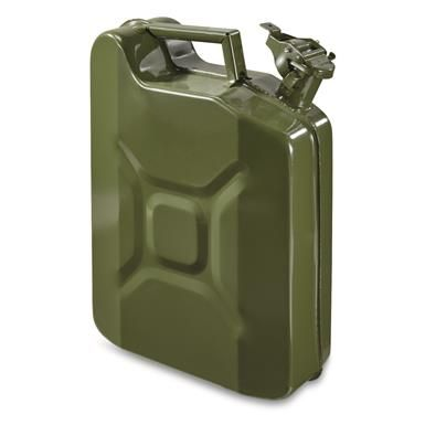 U S Military Style Reproduction Jerry Can 10 Liter 2 5 Gallon