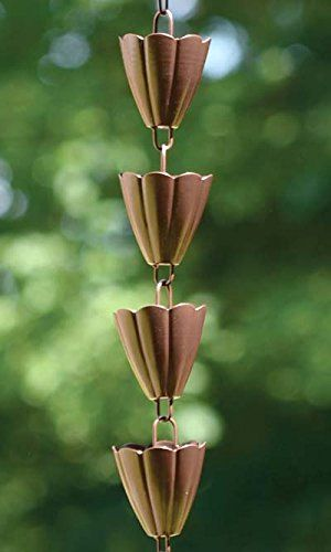 BestNest Ancient Graffiti Lily Rain Chains Multicolored Pack of 2