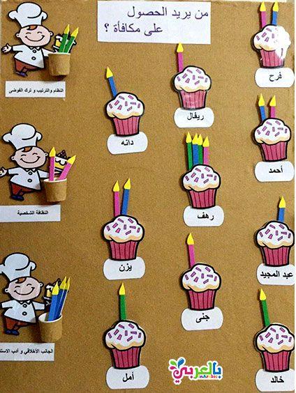 افكار لوحة تعزيز السلوك الايجابي للطلاب لوحات تعزيز سلوك الطالب بالعربي نتعلم Holiday Decor Teaching Holiday