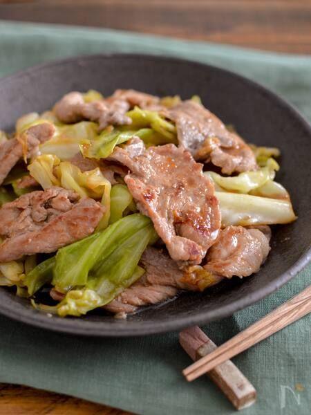 豚肉とキャベツの焼肉のたれ炒め 包丁不要 簡単おかず レシピ