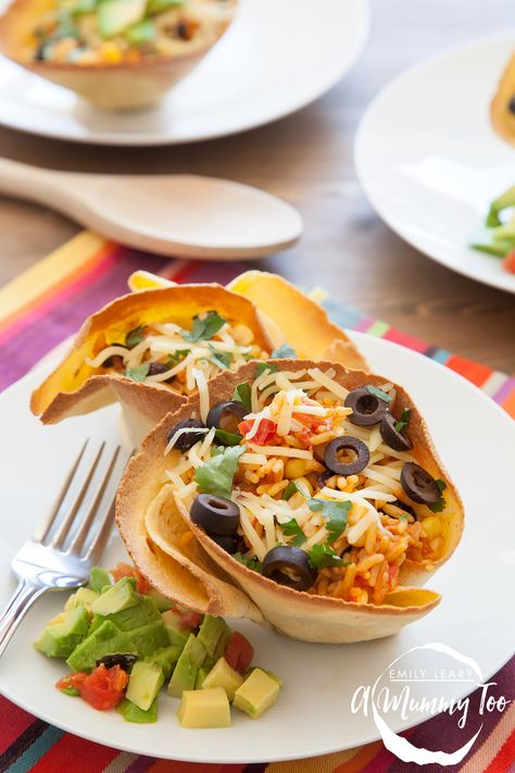 Try out this quick and easy family recipe: Black Bean & Rice Open-Faced Tacos. It's delicious, quick and vegetarian.