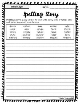 27+ Reading street 5th grade spelling worksheets Popular