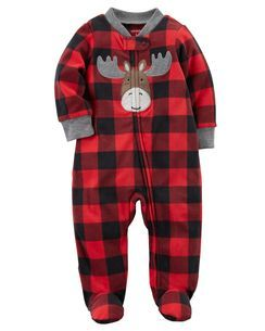 a5b1b0678 Moose Zip-Up Fleece Sleep   Play