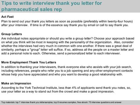 pharmaceutical sales rep thank you note after phone interview free - interview thank you letters sample