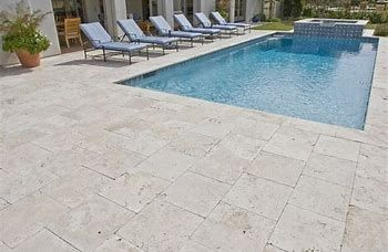 Image Result For Price Per Square Foot For Travertine Pool Decking Stone Pool Deck Travertine Pool Decking Travertine Pool Coping