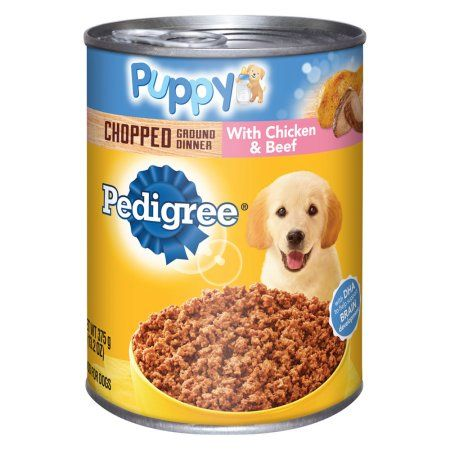 12 Pack Pedigree Puppy Chopped Ground Dinner With Chicken Beef