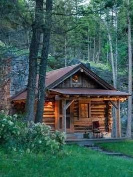 Log cabin | dream | woods | Small log cabin, House in the woods ...