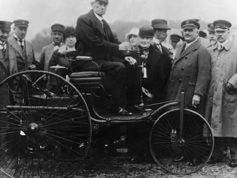 Photographic Print Karl Benz In His Benz Motor Car 1886