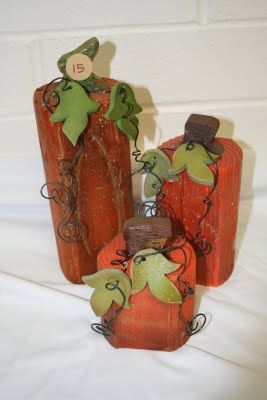 wooden pumpkins
