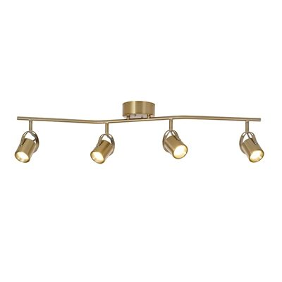 Catalina 4 Light 37 In Soft Gold Dimmable Integrated Led