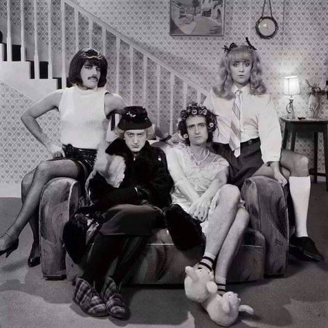 Freddie Mercury John Deacon Brian May and Roger Taylor from I Want To Break Free official video (1984)  Follow @tthingsiadore for more