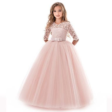 Fleur Fille Robe Princesse Party Pageant mariage demoiselle d/'honneur longue maxi robe de robe