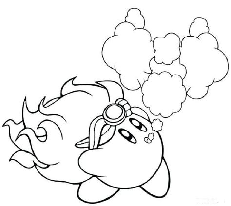 Fire Kirby Coloring Pages Coloring Pages Coloring Pages For Kids Flower Stencil Patterns