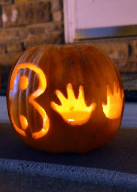 baby's first halloweeen pumpkin carving ideas - Google Search