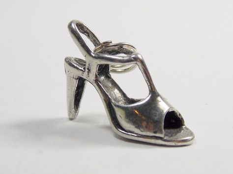STERLING SILVER VICTORIAN STYLE HIGH HEEL CHARM//PENDANT