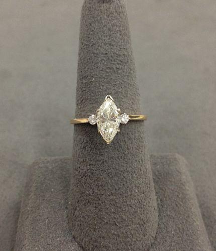!!!!! 14k-Yellow-Gold-Marquise-Diamond-Engagement-Ring-100-166