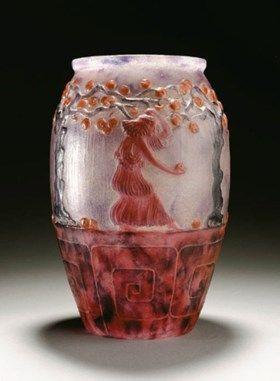 Le Jardin Des Hesperides A Pate De Verre Vase Glass Art