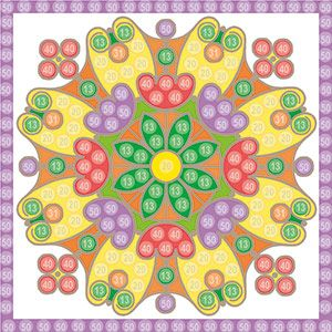 Playmais Trendy Mosaic Bastelvorlage Mandala 1 Bastelvorlagen Basteln Vorlagen