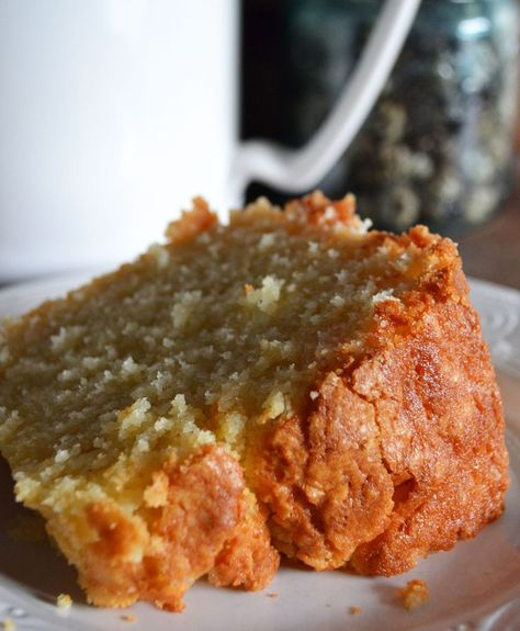 The best moist and delicious almond vanilla poundcake recipe ever. This cake has been a huge hit on Pinterest, you really must make one.
