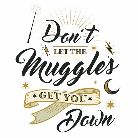 RoomMates Harry Potter Muggles Quote Peel and Sticks Wall Decals, Multi-Colored