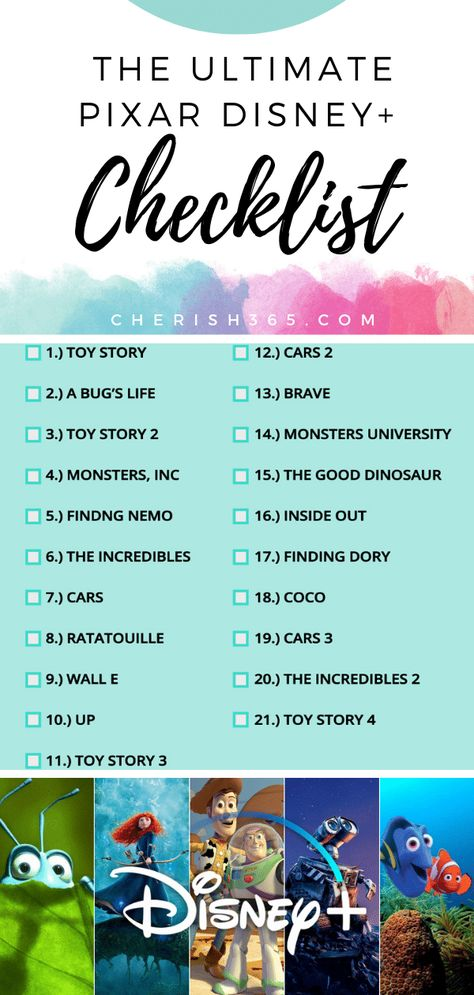 Every Pixar Movie Coming to Disney Plus (and What's Missing)