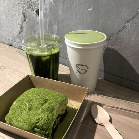 Organic Matcha Green Tea Powder by Enzo Full with Strong Milky Flavour, Easy to Dissolve in Hot Water. Cafe Food, Food N, Food And Drink, Mint Green Aesthetic, Aesthetic Light, Think Food, Greens Recipe, Matcha Green Tea, Aesthetic Food