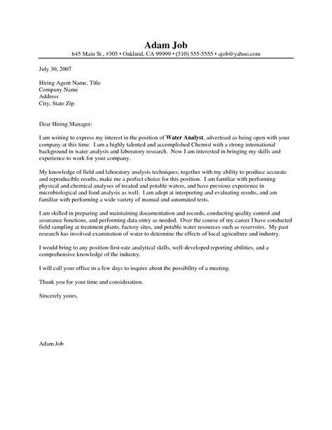 chemist cover letter sample resume chemistry letters crime lab - crime lab analyst sample resume