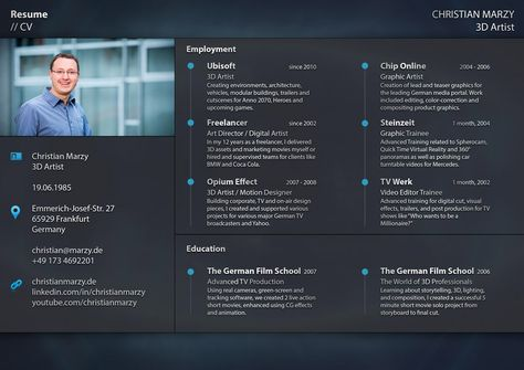 3D Artist - Resume - Skills  Interests   christianmarzy