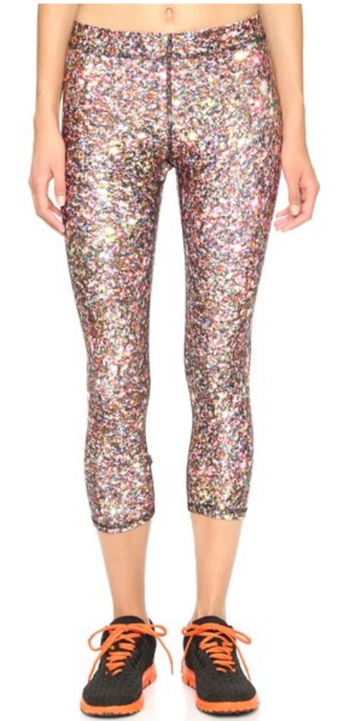 Fun glitter capri leggings