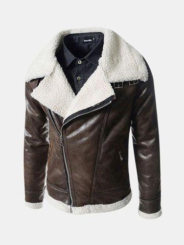 ChArmkpR Manteau mi long en similicuir pour homme – Newchic