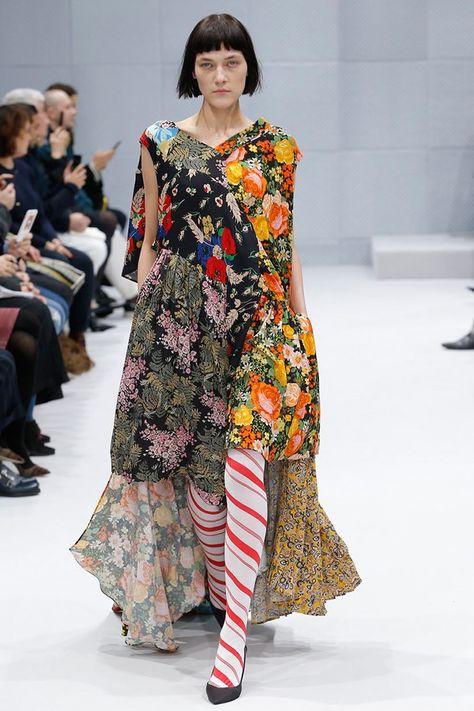 Balenciaga Fall / Winter 2016. Patchwork Dresses
