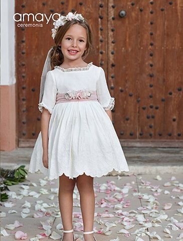 Vestidos De Arras Celebraciones Y Fiesta Nueva Temporada 2019 Nueva Colección De Arras Fiesta Y Cere Dresses Girls Clothes Patterns Flower Girl Dresses